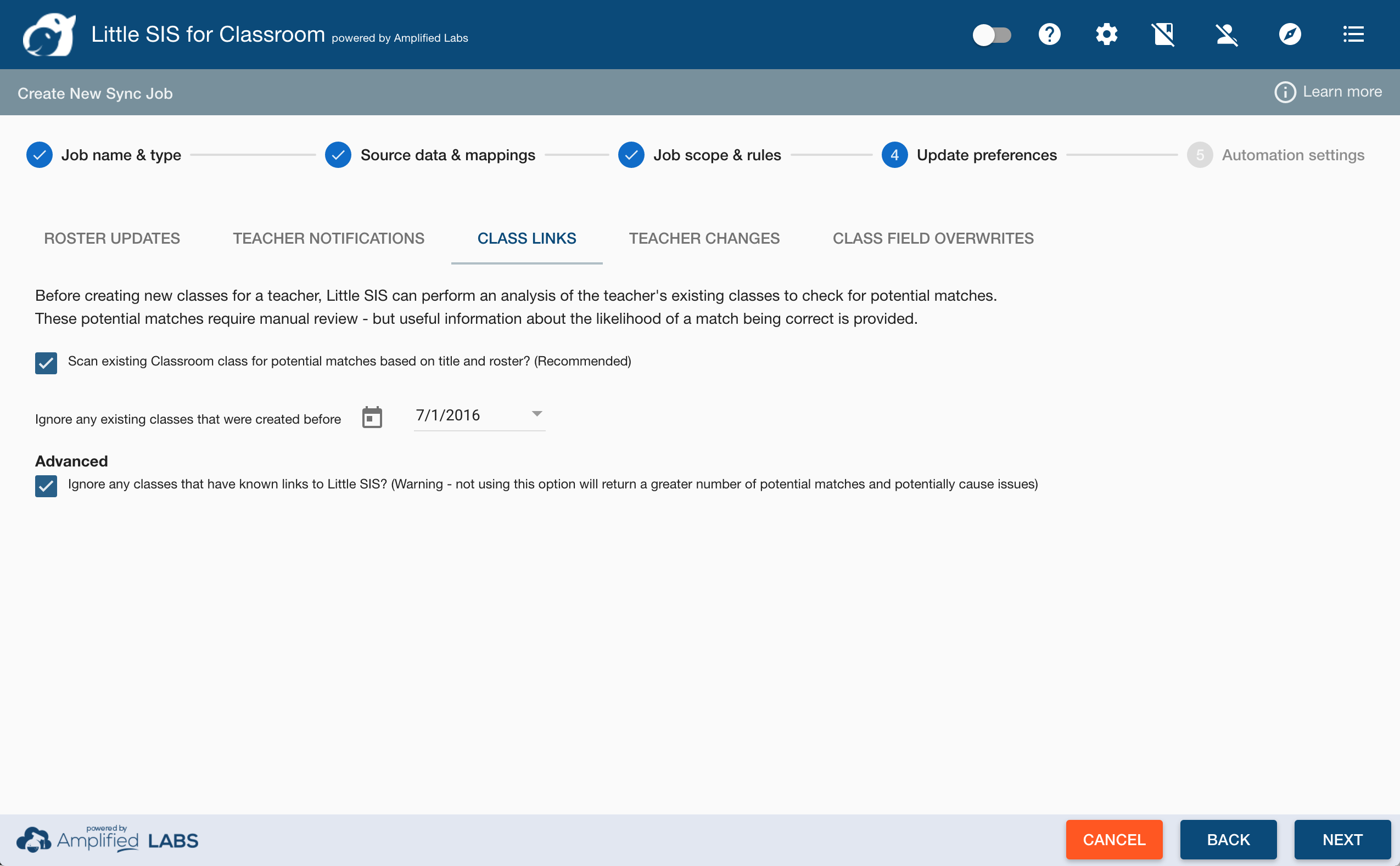 Setting up a sync job - step by step – Help Center